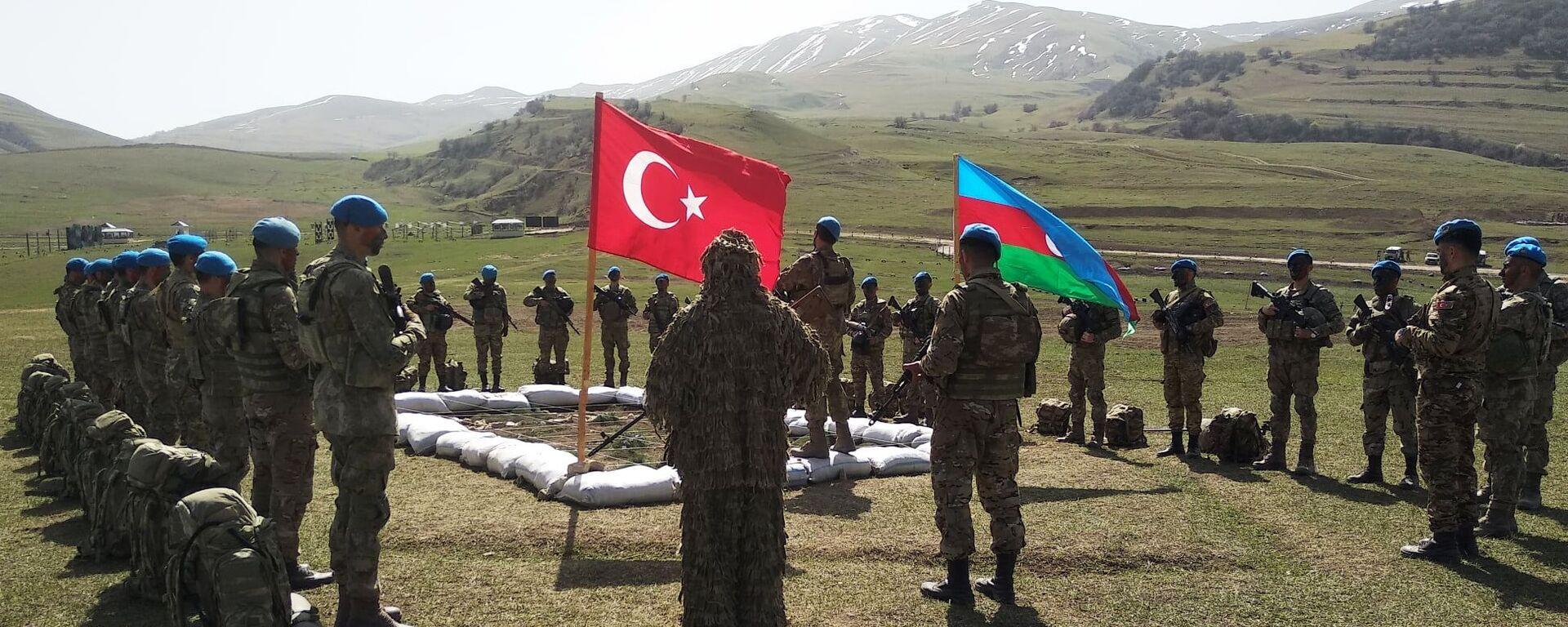 Совместные тактические учения Турции и Азербайджана - Sputnik Абхазия, 1920, 04.10.2021