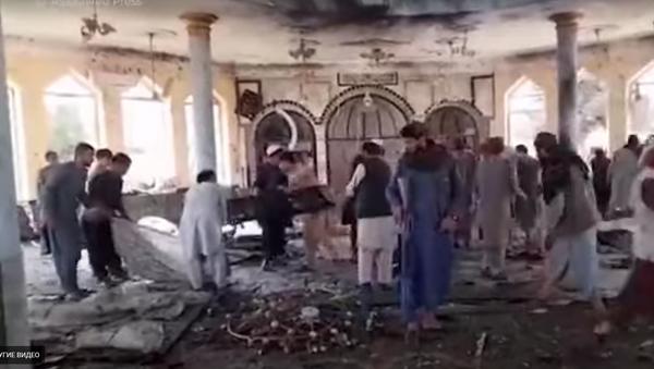 Разрушительные последствия взрыва в мечети Афганистана - Sputnik Абхазия