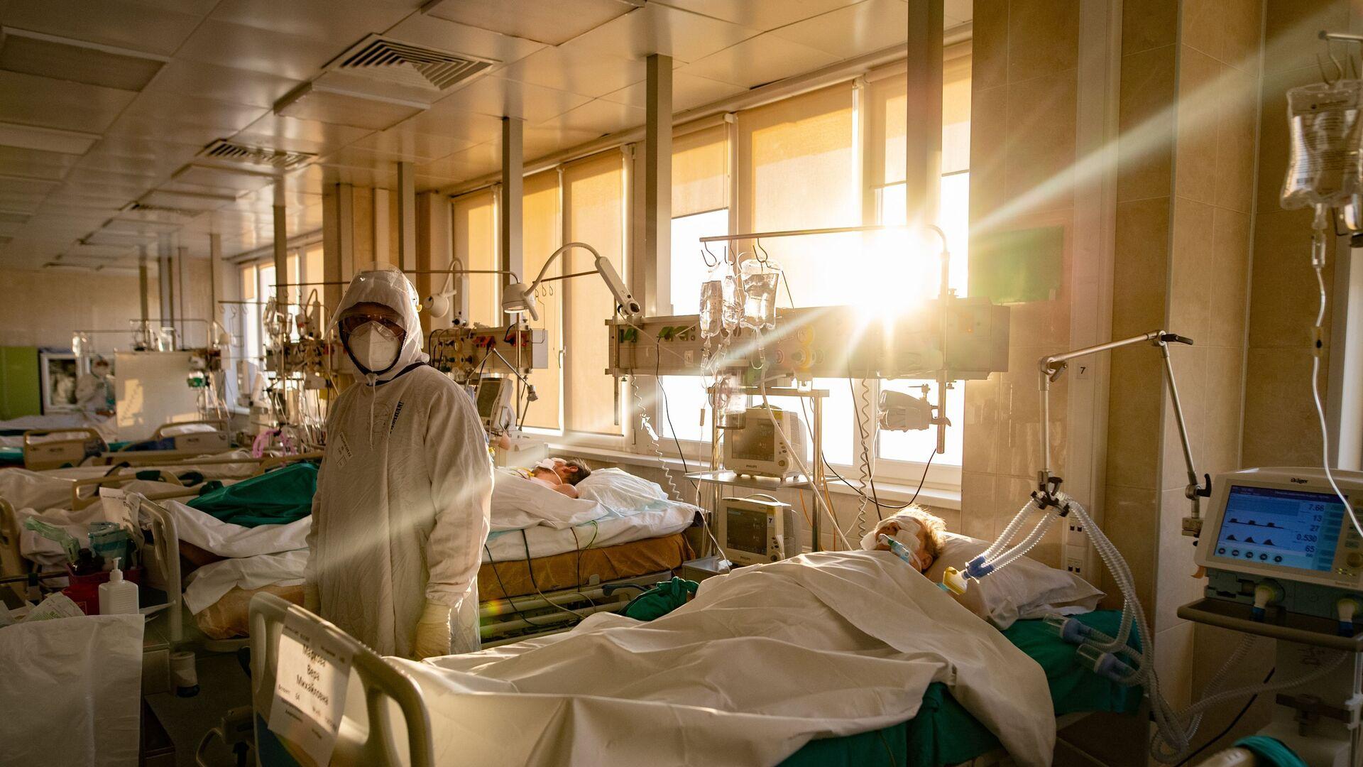 Госпиталь для больных COVID-19 в ГКБ № 15 имени О. М. Филатова - Sputnik Абхазия, 1920, 11.10.2021
