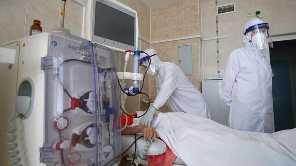 Лечение больных с Covid-19 в больнице скорой помощи в Волгограде - Sputnik Аҧсны