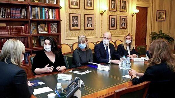 Хибла Герзмава и Ираклий Хинтба встретились с министром культуры России Ольгой Любимовой - Sputnik Абхазия