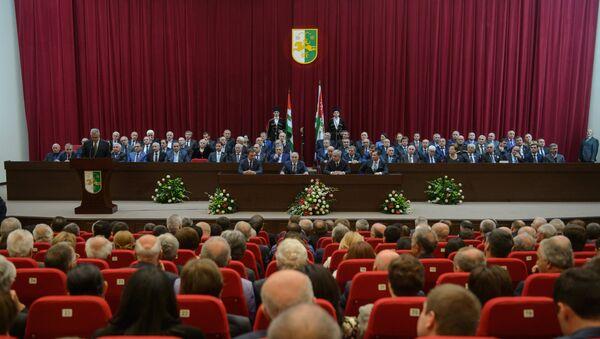 Инаугурация избранного президента Абхазии Рауля Хаджимбы - Sputnik Абхазия