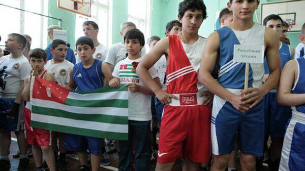Югоосетинкий боксер завоевал золото международного турнира Абхазии - Sputnik Абхазия