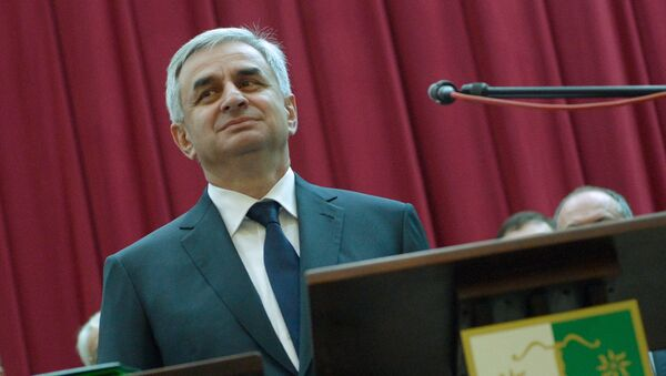 Инаугурация избранного президента Абхазии Рауля Хаджимбы,архивное фото  - Sputnik Абхазия