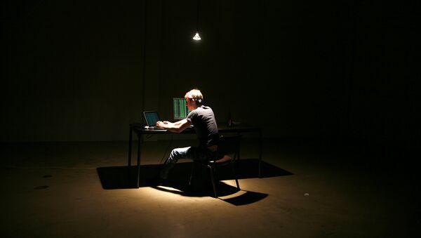 Архивное фото хакера за компьюиером - Sputnik Абхазия