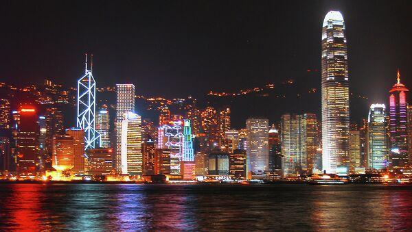 Вид на Гонконг-Сентрал с променада полуострова Коулун. - Sputnik Абхазия