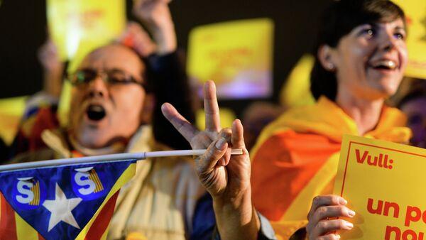 Митинг в поддержку независимости Каталонии в Барселоне - Sputnik Абхазия