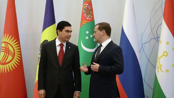 Д.Медведев принимает участие в заседании Совета глав правительств СНГ в Ашхабаде - Sputnik Абхазия