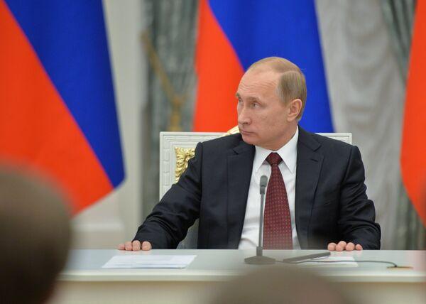 Встреча В.Путина с представителями палат Федерального Собрания РФ. Архивное фото. - Sputnik Абхазия