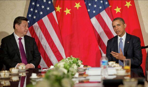 Президент США Барак Обама во время двусторонней встречи с президентом Китая Си Цзиньпин. Архивное фото. - Sputnik Абхазия