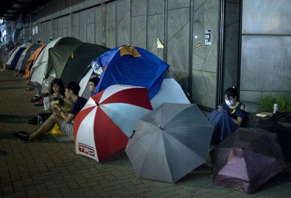 Акция протестов Occupy Central в Гонконге. Архивное фото. - Sputnik Абхазия