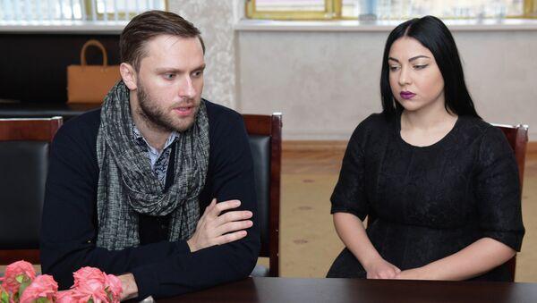 Лука Гаделия и Кристина Эшба - Sputnik Абхазия