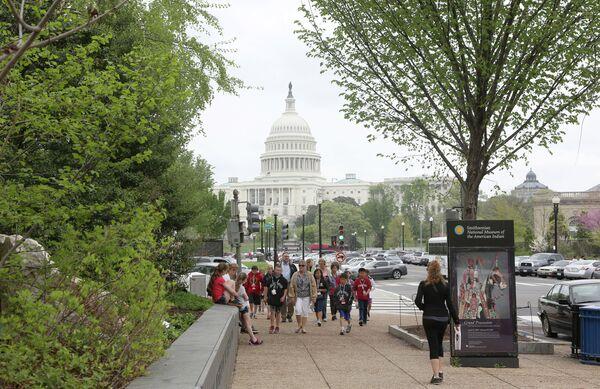 Здание Конгресса США в Вашингтоне - Sputnik Абхазия