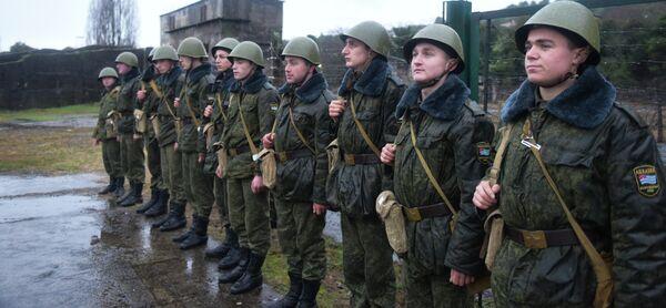 Учения в артиллерийском полку в поселке Бакмаран. Фото с места события. - Sputnik Абхазия
