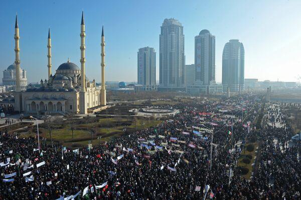 Акция протеста против публикаций, оскорбляющих Пророка Мухаммада - Sputnik Абхазия
