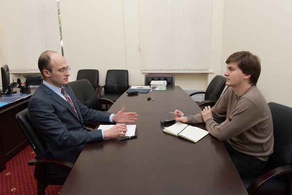 Ираклий Хинтба дает интервью корреспонденту Sputnik. - Sputnik Абхазия