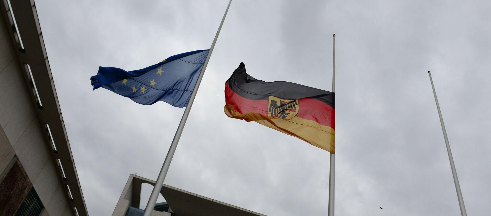 Флаг Германии и ЕС. Архивное фото. - Sputnik Абхазия, 1920, 11.02.2021