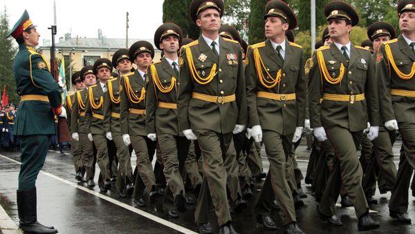 Торжественный парад на 20-летие Победы в Отечественной войне народа Абхазии - Sputnik Аҧсны