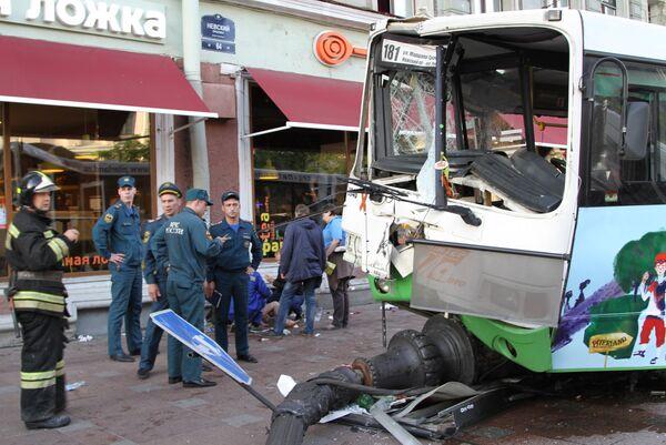 Крупная авария с маршрутным автобусом в Санкт-Петербурге. Архивное фото. - Sputnik Абхазия