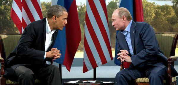 Президент России Владимир Путин и Президент США Барак Обама. Архивное фото. - Sputnik Абхазия