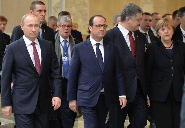 Переговоры лидеров России, Германии, Франции и Украины в Минске - Sputnik Абхазия