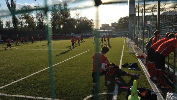 Тренировка детской футбольной команды. Архивное фото. - Sputnik Аҧсны