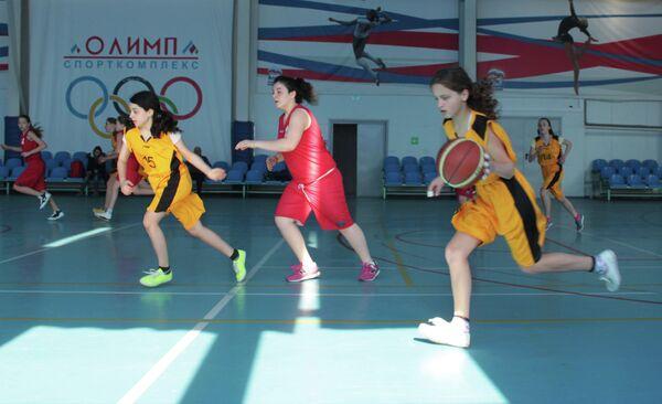 Первенство по баскетболу среди девушек. - Sputnik Абхазия