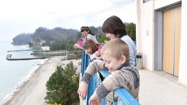 Дети из ДНР в Абхазии - Sputnik Аҧсны