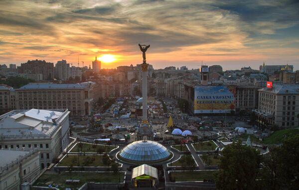 Палаточный лагерь на площади Независимости в Киеве. Архивное фото. - Sputnik Абхазия