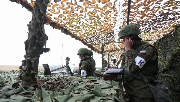 Российские военнослужащие во время учений. Архивное фото. - Sputnik Абхазия