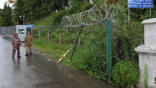 Пограничный пункт Ингур в Гальском районе Абхазии. Архивное фото. - Sputnik Аҧсны