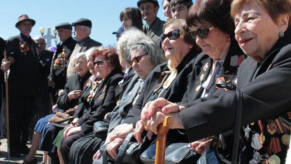 Ветераны на праздновании Дня Победы ВОВ в Сухуме. Архивное фото. - Sputnik Абхазия