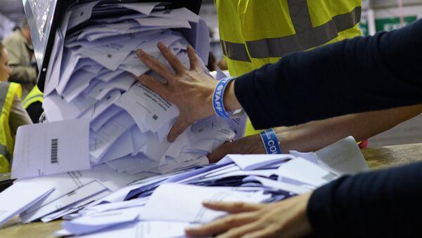 Подсчет голосов рефрендума о независимости Шотландии - Sputnik Абхазия