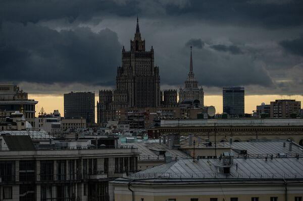 Вид на здание Министерства иностранных дел РФ. Архивное фото. - Sputnik Абхазия