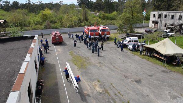 Соревнования по пожарно-спасательному спорту состоялись в Агудзере - Sputnik Абхазия