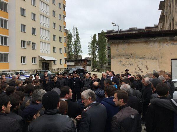 Протест жителей города - Sputnik Абхазия