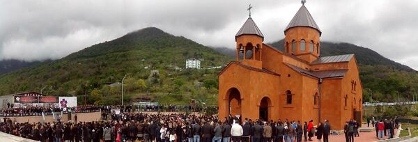 Молебен памяти жертв армянской трагедии прошел в Гагре - Sputnik Абхазия
