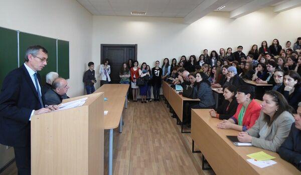 Научно-практическая конференция студентов, аспирантов и молодых преподавателей посвященной 70-летию В. Г. Ардзинба - Sputnik Абхазия
