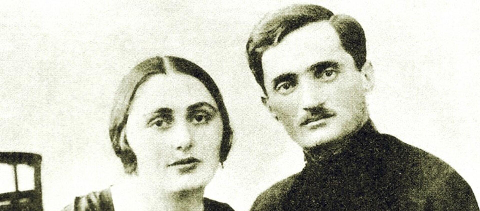 С любимой женой Сарией - Sputnik Абхазия, 1920, 01.05.2016