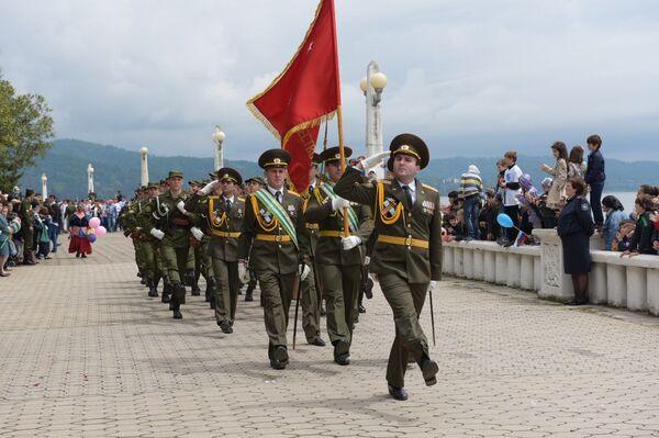 Парад Победы на Сухумской набережной - Sputnik Абхазия