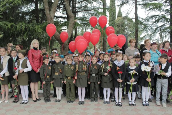 Жители Цандрипша отметили Великую Победу - Sputnik Абхазия