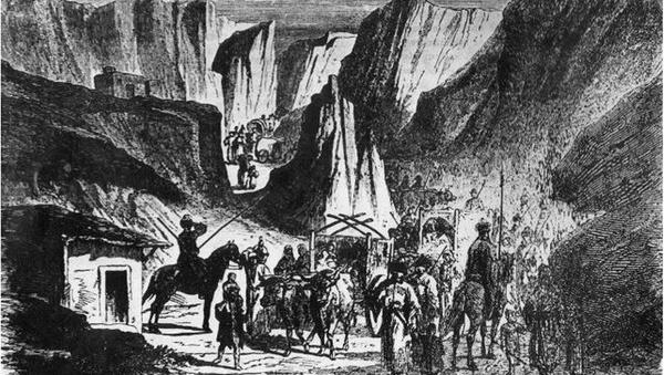 Выселение абхазов – 1867 год. Архивное фото. - Sputnik Абхазия