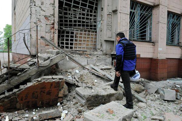 Последствия обстрелов в Донецке - Sputnik Абхазия