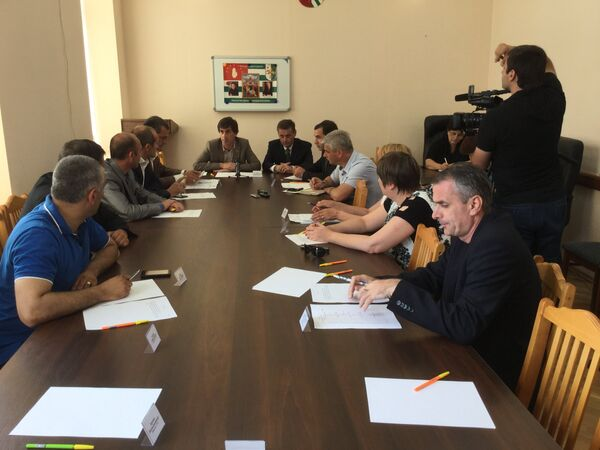 Заседание рабочей группы. Фото с места события. - Sputnik Абхазия