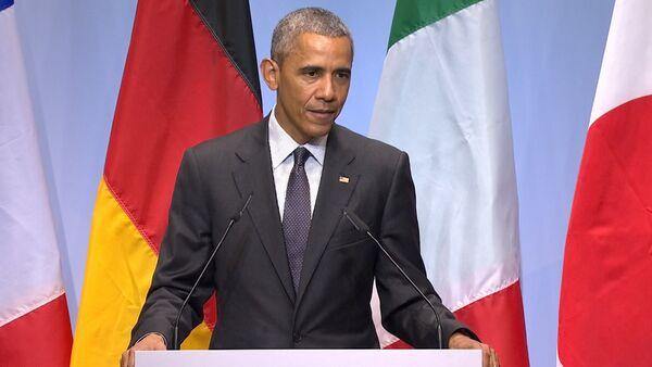 Это вопрос мистера Путина – Обама о сохранении санкций в отношении РФ - Sputnik Абхазия