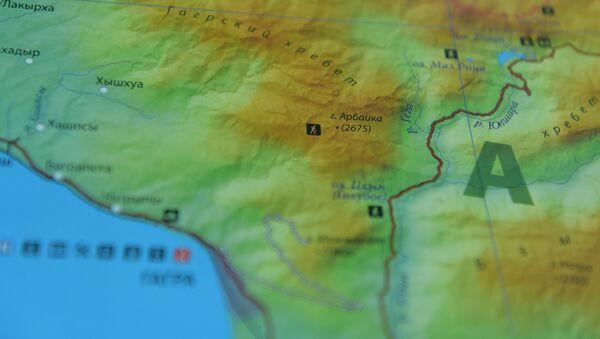 Фрагмент физической карты Абхазии - Sputnik Абхазия