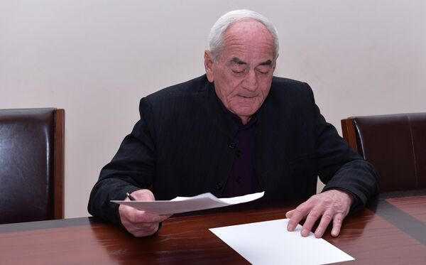 Председатель Совета Старейшин Абхазии Константин Озган. Архивное фото. - Sputnik Абхазия