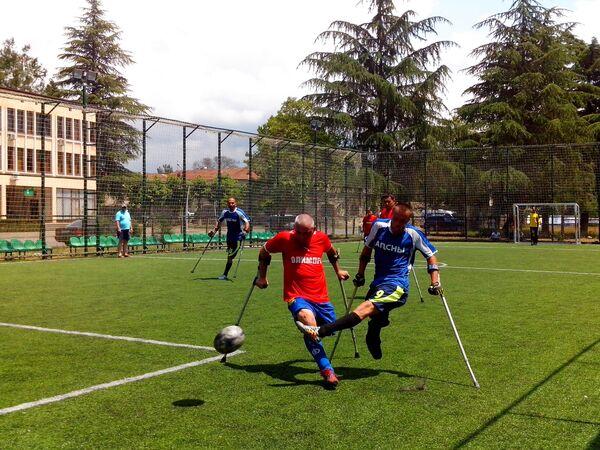 Товарищеский матч посвященный дню России прошёл в Пицунде - Sputnik Абхазия