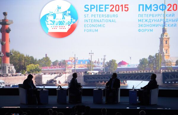 Открытие Петербургского международного экономического форума 2015 (ПМЭФ) - Sputnik Абхазия