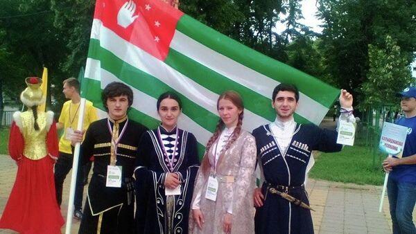 Абхазские участники фестиваля Студенческая весна на Кавказе - Sputnik Абхазия